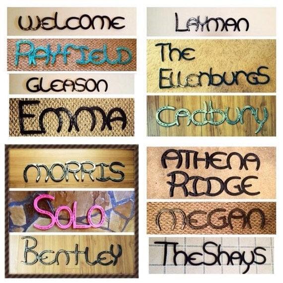 6 Letter Horseshoe Sign Made To Order Horseshoe By ShabbyWorks