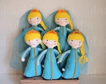 Rag doll: turquoise princess blonde