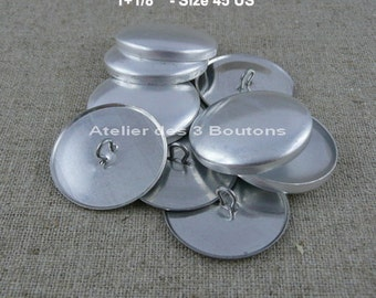 """5 Cover Buttons 1.1/8"""" (Size 45)"""