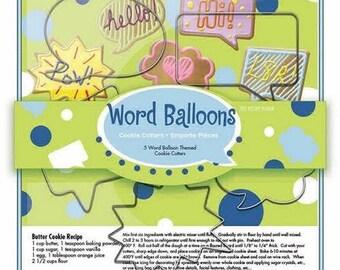 Word Balloons Cookie Cutter Set