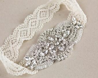 Bridal garter set, wedding garters, lace garters - Style Laces