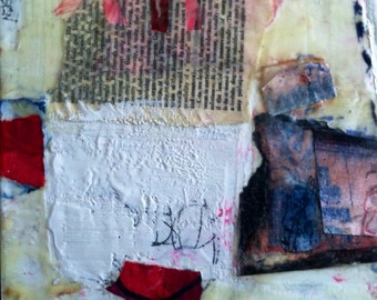 Encaustic, mixed media