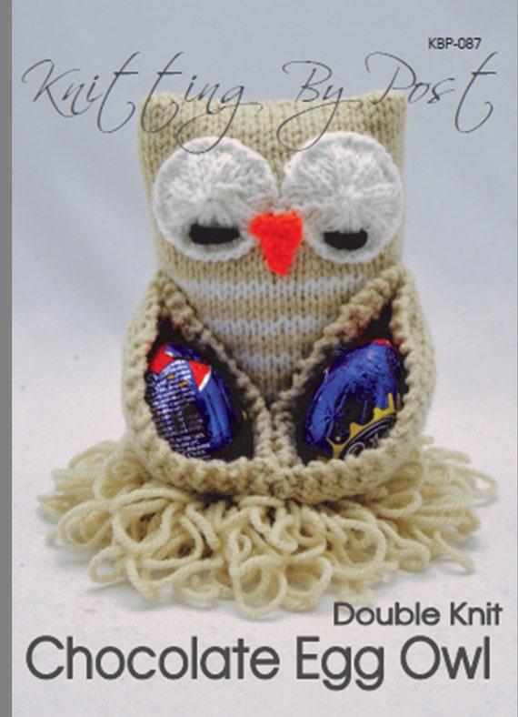 KNITTING PATTERN Chocolate Egg Owl Easter Knitting