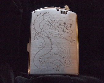 Vintage Dragon Lighter and Cigarette Case