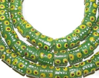 African krobo Ghana fancy handmade glass trade beads