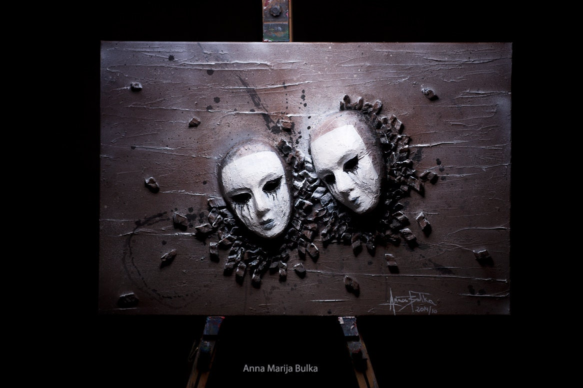 Abstract Wall sculptures 3D Portrait painting Acrylic  sc 1 st  Wall Murals Ideas & 3d Wall Sculpture Art u2013 Wall Murals Ideas