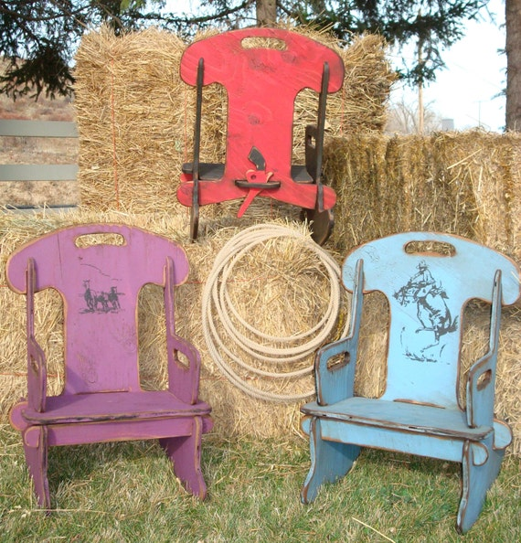 Personalized Puzzle Rocker Rocking Chair For Kids Rustic