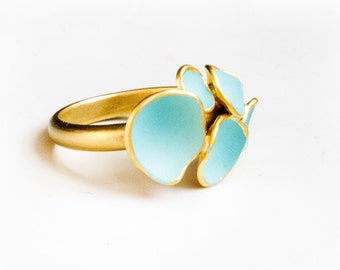 Mint / pink geo ring bubbles
