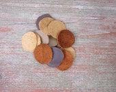 Leather Disc Inserts for Pendant Necklaces (5-pack)