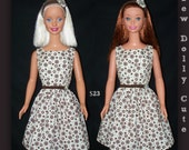 My Size Barbie Doll Brown Rings Dress