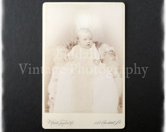 Cabinet Card Photograph of a Baby - W. Curtis Jaylor & Co. Philadelphia