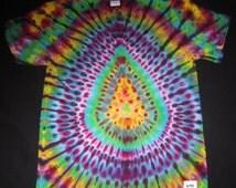 33 Psychedelic Turtle Egg, Tie Dye T-shirt, Fits Unisex Medium