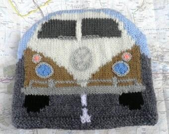 Hand knitted camper van tea cosy