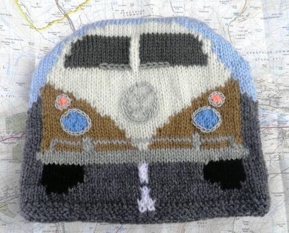Campervan Tea Cosy Knitting Pattern : Hand knitted camper van tea cosy