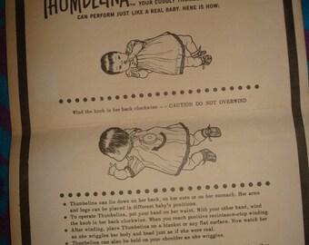 Ideal Tiny Thumbelina Original Instructions