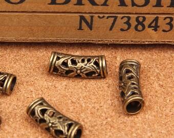 25pc antique bronze  arc tube Charm Pendants the arc tube necklaces  bracelet   8x20mm
