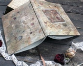 "Hand bound notebook, handmade journal, antique diary for joyous moments: ""Joyfulness of everyday"""