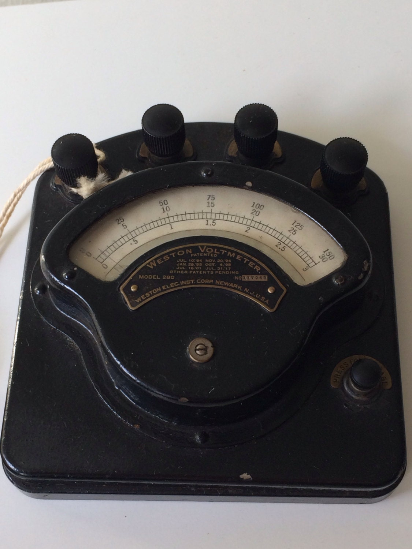 Antique Volt Meter : Antique weston voltmeter model volts