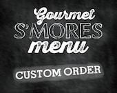 S'mores Bar Printables - CUSTOM ORDER