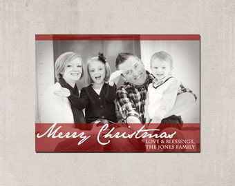 Printable Family Photograph Christmas Card