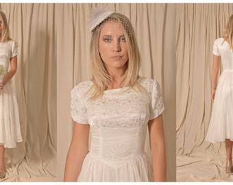 1950s Vintage Wedding Dress