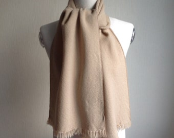 Wool Scarf by Andrea Zannellato - Wool Scarf Beige Wool Scarf - Beige Wool Scarf - Gift for him - Gift for Her