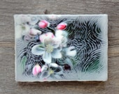 Crabapple Blossom. Original encaustic wall art. Encaustic Photography. Botanicals. 5x7