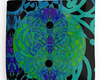 Blue Yin Yang Tote
