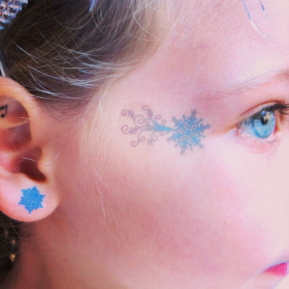 Frozen Elsa Temporary Face Tattoo for Halloween - Costume Party Tattoo