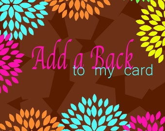 Add a back design to your card!