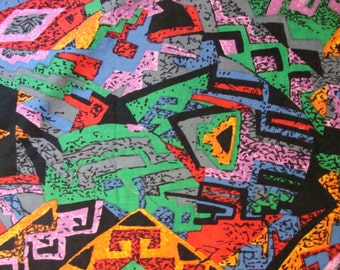 MM Fab Inc Multicolor Shapes on cotton fabric BTY