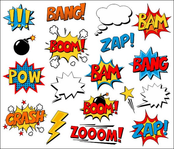 Superheld Clipart Comic Book Clip Art Comic Text Sprechblasen