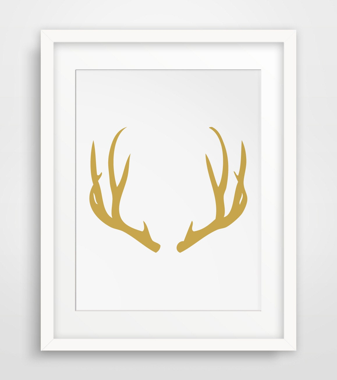 Yellow nursery yellow decor yellow kitchen gold deer gold for Gold wall art