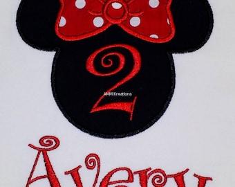 Minnie Mouse Birthday Shirt or Onesie