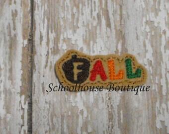 FALL felties, feltie, Thanksgiving, Halloween, Fall Harvest, Machine embroidered,felt applique,felt embellishment