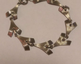 Bracelet Abstract Art Modern Sterling Silver Link Collection Piece