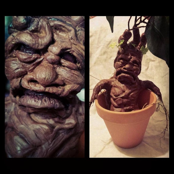 harry potter racines de mandragore dans des pots en argile. Black Bedroom Furniture Sets. Home Design Ideas