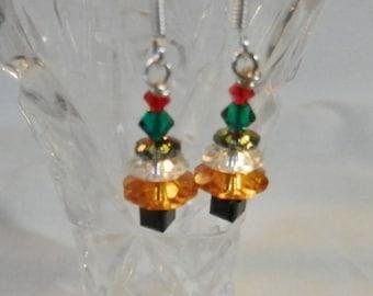 Christmas Treel Earrings - Multi-color