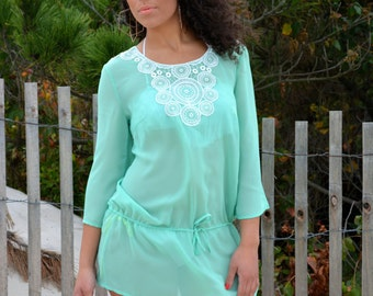 Beach cover up, beach dress, cover up