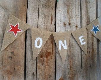 One Banner High Chair Banner  I Am One Boy Banner 1st Birthday Banner Star Banner Boy Banner Birthday One Girl Star Boy Star Bunting