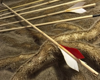 Traditional You-Finish Wooden Arrows - Custom You-Finish Arrows - 125 Grain Field Tips