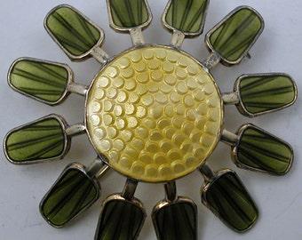 Vintage Aksel Holmsen Sterling Norway Modernist Flower Pin Brooch