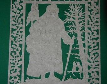 Pennsylvania Dutch Woodland Belsnickel Scherenschnitte