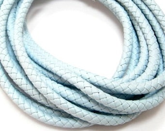 PU Leather Braided Round Cord10mm