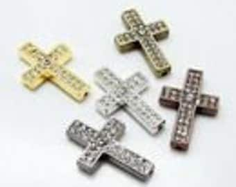 Cross Link Rhinestone 35mm