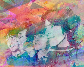 The Beatles Art, Beatles Original Painting Art Print