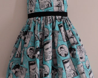 NEW Handmade Elvis Presley In The 50's Blue Dress Custom Sz 12M-14Yrs