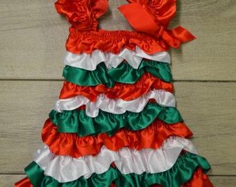 Christmas Dress w/ matching headband- Infant & Toddler Christmas Dress