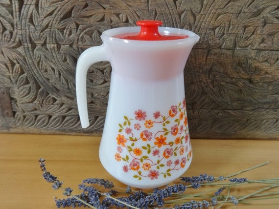 Retro Arcopal France Scania Pattern Jug / Pitcher