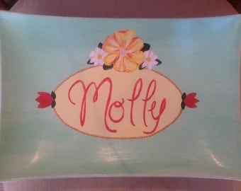 Hand Painted Children's Name Dish or Platter - Molly